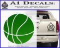Customizable Basketball Decal Sticker D1 Green Vinyl Logo 120x97