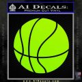 Customizable Basketball Decal Sticker D1 Lime Green Vinyl 120x120