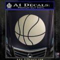 Customizable Basketball Decal Sticker D1 Metallic Silver Emblem 120x120