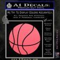 Customizable Basketball Decal Sticker D1 Pink Emblem 120x120