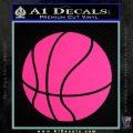 Customizable Basketball Decal Sticker D1 Pink Hot Vinyl 120x120