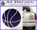 Customizable Basketball Decal Sticker D1 PurpleEmblem Logo 120x97