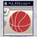 Customizable Basketball Decal Sticker D1 Red 120x120