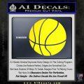 Customizable Basketball Decal Sticker D1 Yellow Laptop 120x120