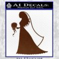 Customizable Bride Decal Sticker BROWN Vinyl 120x120