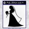 Customizable Bride Decal Sticker Black Vinyl 120x120
