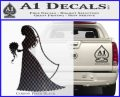 Customizable Bride Decal Sticker Carbon FIber Black Vinyl 120x97