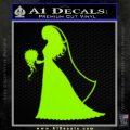 Customizable Bride Decal Sticker Lime Green Vinyl 120x120