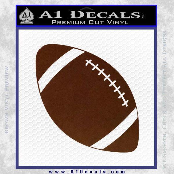 Customizable School Football Decal Sticker BROWN Vinyl
