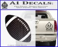Customizable School Football Decal Sticker Carbon FIber Black Vinyl 120x97