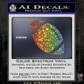 Customizable School Football Decal Sticker Glitter Sparkle 120x120