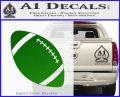 Customizable School Football Decal Sticker Green Vinyl Logo 120x97