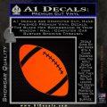 Customizable School Football Decal Sticker Orange Emblem 120x120