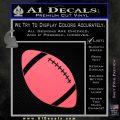 Customizable School Football Decal Sticker Pink Emblem 120x120