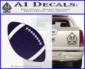 Customizable School Football Decal Sticker PurpleEmblem Logo 120x97