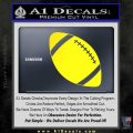 Customizable School Football Decal Sticker Yellow Laptop 120x120