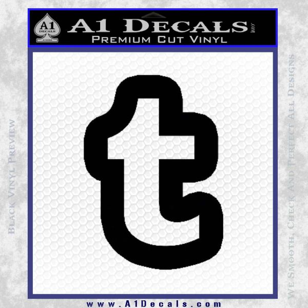 Customizable Tumblr T D1 Decal Sticker Black Vinyl