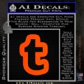 Customizable Tumblr T D1 Decal Sticker Orange Emblem 120x120