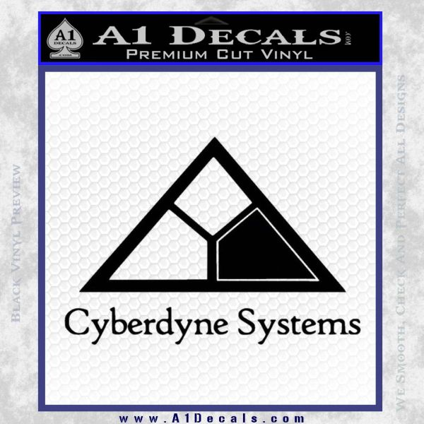 Cyberdyne Systems Jurassic Park Decal Sticker Black Vinyl