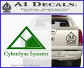 Cyberdyne Systems Jurassic Park Decal Sticker Green Vinyl Logo 120x97