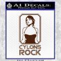 Cylons Rock Bsg Battlestar Galactica D1 Decal Sticker BROWN Vinyl 120x120