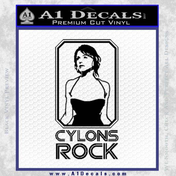 Cylons Rock Bsg Battlestar Galactica D1 Decal Sticker Black Vinyl