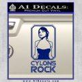 Cylons Rock Bsg Battlestar Galactica D1 Decal Sticker Blue Vinyl 120x120
