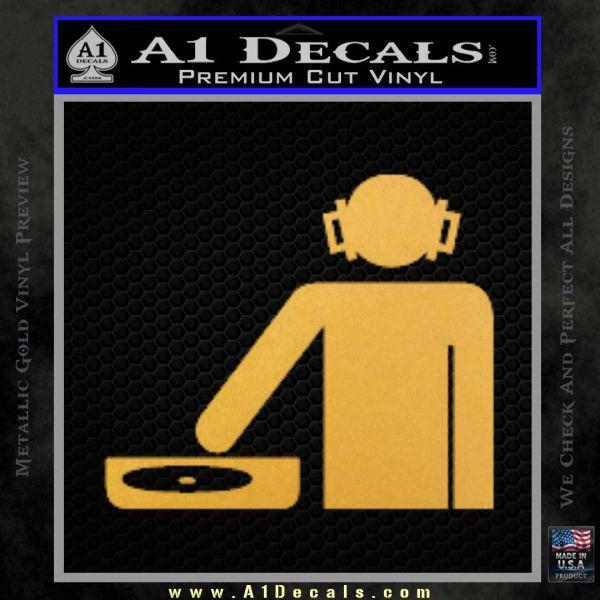 DJ Decal Sticker Stick A Decals - How to make vinyl stickers stick