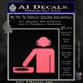 DJ Decal Sticker Stick Pink Emblem 120x120