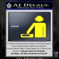 DJ Decal Sticker Stick Yellow Laptop 120x120