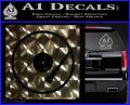 DJ Turntable Decal Sticker 3DChrome Vinyl 120x97