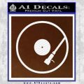 DJ Turntable Decal Sticker BROWN Vinyl 120x120