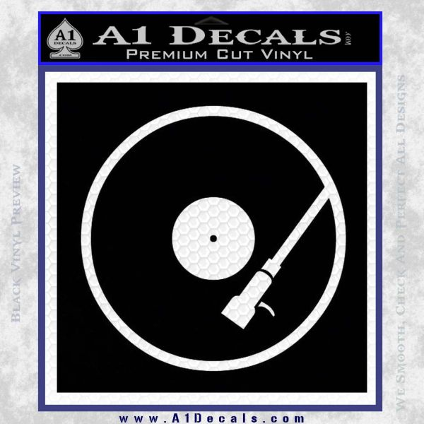 DJ Turntable Decal Sticker Black Vinyl