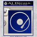 DJ Turntable Decal Sticker Blue Vinyl 120x120