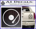 DJ Turntable Decal Sticker Carbon FIber Black Vinyl 120x97