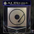 DJ Turntable Decal Sticker Carbon FIber Chrome Vinyl 120x120