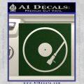 DJ Turntable Decal Sticker Dark Green Vinyl 120x120