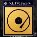 DJ Turntable Decal Sticker Gold Vinyl 120x120