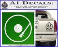 DJ Turntable Decal Sticker Green Vinyl Logo 120x97