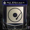 DJ Turntable Decal Sticker Metallic Silver Emblem 120x120