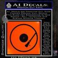 DJ Turntable Decal Sticker Orange Emblem 120x120