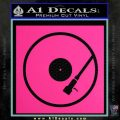 DJ Turntable Decal Sticker Pink Hot Vinyl 120x120