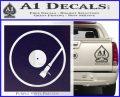 DJ Turntable Decal Sticker PurpleEmblem Logo 120x97