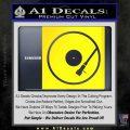 DJ Turntable Decal Sticker Yellow Laptop 120x120