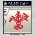 Deer Duck Fish Hunting Fishing Decal Sticker Red 120x120