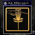 Disc Golf Basket Decal Sticker SQ Gold Vinyl 120x120