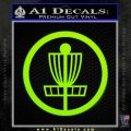 Disc Golf Decal Sticker Basket Lime Green Vinyl 120x120