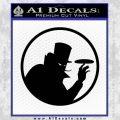 Disc Golf Evil Villain Decal Sticker Black Vinyl 120x120