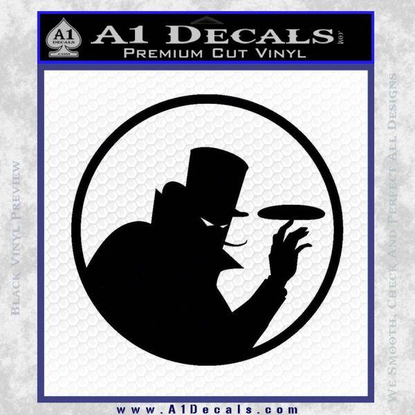 Disc golf evil villain decal sticker black vinyl