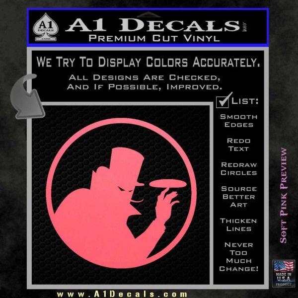 Disc golf evil villain decal sticker pink emblem 120x120